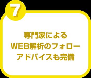 専門家によるWEB解析のフォローアドバイスも完備